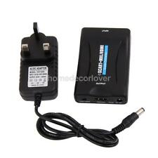 SCART to HDMI 720P 1080P 60Hz HD Video Converter Scaler Box UK Plug Adapter