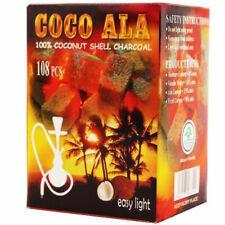 108 Pcs Coco Ala Hookah Charcoal Coals Natural Coconut Coco Shisha Nara Coal