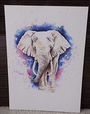 A4 PRINT Of ELEPHANT Watercolour Painting, Wildlife/Bird/Animal Art, Lisa WU Art