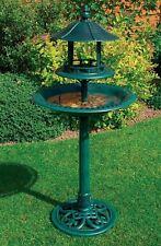NOUVEAU jardin d'ornement en plastique Oiseau Mangeoire Nourriture Bain Table Avec Abri Extérieur