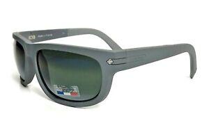 VUARNET CITYLYNX Men SUNGLASSES Matte Grey Green Silver Bi Mirror 1412 0006 58mm