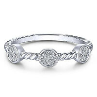 Elegant Women 925 Silver,rose Gold Wedding Rings White Sapphire Ring Size 6-10