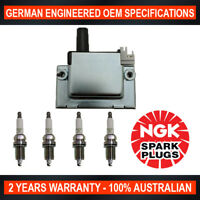 4x Genuine NGK Spark Plugs & 1x Ignition Coil for Honda Accord Civic Integra