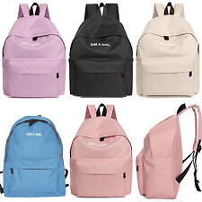 Womens Canvas Backpack Book School Satchel Shoulder Bag Laptop Rucksack NEW
