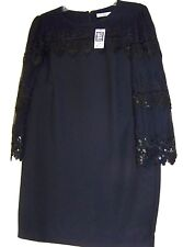 "DARLING ""TOAST OF CHARLESTON"" VINTAGE-STYLE BLACK DRESS LONG SLEEVE size L, NEW"