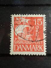 DANEMARK, 1927-30, timbre 181, VOILE BLANCHE, BATEAU, VOILIER, oblitéré