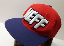 NEFF Red and Blue Flexfit Size S/M Hat Cap Embroidered Logo