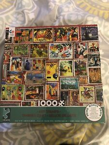 WHITE MOUNTAIN PUZZLES - ART STAMPS - 1000 PIECES - Used Only Once