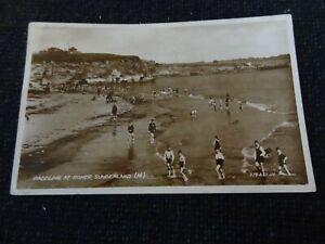 Paddling at Roker Sunderland Postcard Durham - 45896