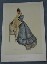 Antique Print by Howard Chandler Christy Titled At The Opera Baggage,1900