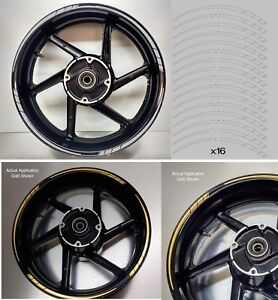 Tapered Motorcycle Wheel Rim Grey Tape stickers decal 10mm width 003