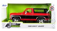 1980 CHEVROLET BLAZER K5 RED & BLACK 1/24 DIECAST MODEL CAR BY JADA 31593-MJ