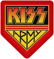 OFFICIAL LICENSED - KISS - ARMY BADGE SEW-ON PATCH ROCK SIMMONS