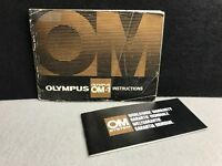 Olympus OM-1 35mm Film Camera Manual Instruction Book - English - USED