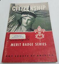 Vintage 1953 Booklet Citizenship Merit Badge Series Boy Scouts of America
