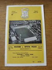15/10/1963 Watford v Crystal Palace  (Team Changes)