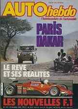 AUTO HEBDO n°349 du 23  Décembre 1982 PARIS DAKAR BILAN RALLYE BUGGY SUNHILL
