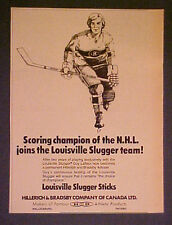 1977 Guy Lafleur Montreal Candiens Louisville Slugger Hockey Sticks Sports AD