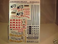 """DECALS 1/43 PUB """" 2 GENDARMES """","""" CIRQUE AMAR """" - COLORADO  43151"""