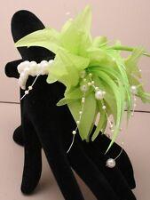 Flower Wrist Corsage Beaded Bracelet Weddings Bridesmaids Green,Pink Peach,Lilac