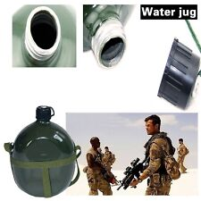 Vintage 1L Outdoor Travel Camping Hiking Army Green Aluminum Water Bottle