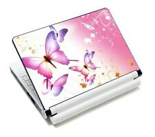 "Pink Butterfly Laptop Decal Sticker Cover Skin For 12"" 13"" 14"" 15"" 15.6"" Laptop"