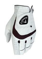 CALLAWAY SYNTECH ALL WEATHER GOLF GLOVE (VARIOUS SIZES) WHITE/BLACK