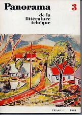 PANORAMA DE LA LITTERATURE TCHEQUE N° 3    PRAGUE 1981