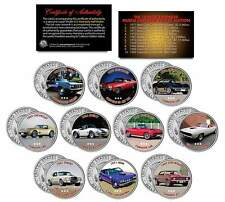MUSCLE CARS Colorized JFK Half Dollar US 10-Coin Set CORVETTE CAMARO SHELBY CUDA