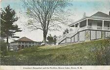 New Hampshire, NH, Derry, Beaver Lake, Comeau's Bungalow & Pavilion 1914 PC