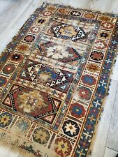 """New listing Caucasian rug antique Distressed Boho 2'10X4'2"""" late 1800s-early 1900s"""