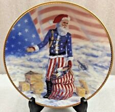"Ducal Royale Civil War Santa Plate Portraits of Santa 8.5"" patriotic 1985"