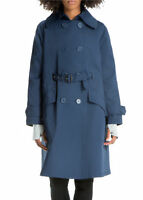 Max Studio Women's Blue Front-Belted Trench Coat, Size M NWOT