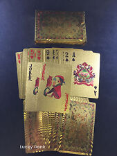 Gold Foil PLAYING CARDS FULL POKER DECK Colorful Dragons Design