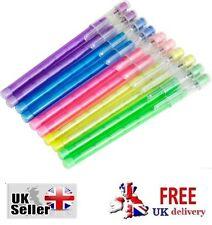 10 Surtidos De Color Plástico Carcasas Push-ups Lápices Con Goma Top Tapas