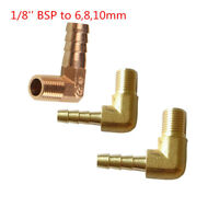 1/8 Inch NPT Male Threads x 6,8,10mm Barb Elbow Fuel Hose Barb Fitting