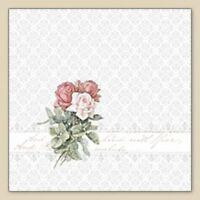 20 Servietten Serviettentechnik Roses Bouquet Ornament Sagen Vintage 33x33