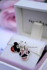 Authentic Pandora Disney Mickey and Minnie Icons Enamel Dangle Charms