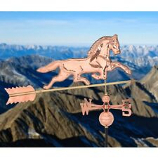 "Home Garden Polished Outdoor Roof Mounted Copper Horse Weathervane 38""x18""x46"""