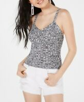 Hooked Up Junior's Knitted Tank Top Gray Combo Size Medium M Marled $34 289