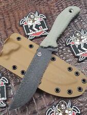 Scrap Yard Knife Co M/O Mudd Mutt w/ Coyote Azwelke Sheath Unused Busse Combat