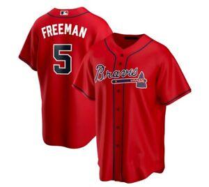 Freddie Freeman Atlanta Braves Player Jersey Red Size XS-5XL