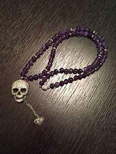 Erickson Beamon Rocks long Black Goth Girl Crystal Amethyst Swarovski Necklace