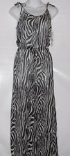 H&M Ladies Sheer Chiffon Zebra Print Jumpsuit Swimsuit Cover Up Medium (M) NWT