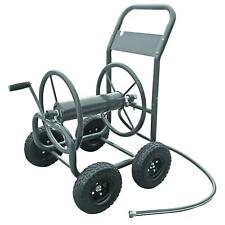 Commercial Water Hose Reel Cart w/ 4 Wheel Tire Mobile Storage Industrial Garden