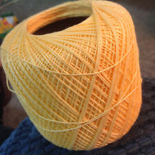 2 BALLS of DMC TRADITIONS SIZE 10 SOFT YELLOW CROCHET THREAD - 700 YARDS