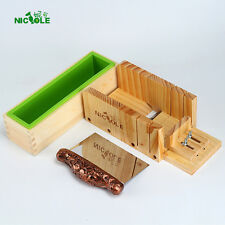 Loaf Soap Mold Set Wooden Box DIY Soap Cutter Tools With Stainless Steel Blade