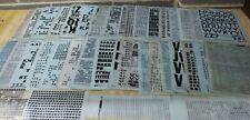 HUGE Lot 100s LETRASET Dry Transfer Instant Lettering Sheets Craft + Extras -254