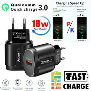 Universal Fast Charge Quick Charging Adapter EU US Plug USB Wall Charger QC 3.0