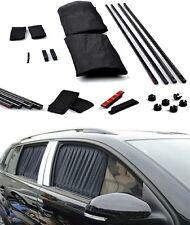 50CM Black Car Window Adjustable VIP Mesh Style UV Sunshade Visor Curtain Pair